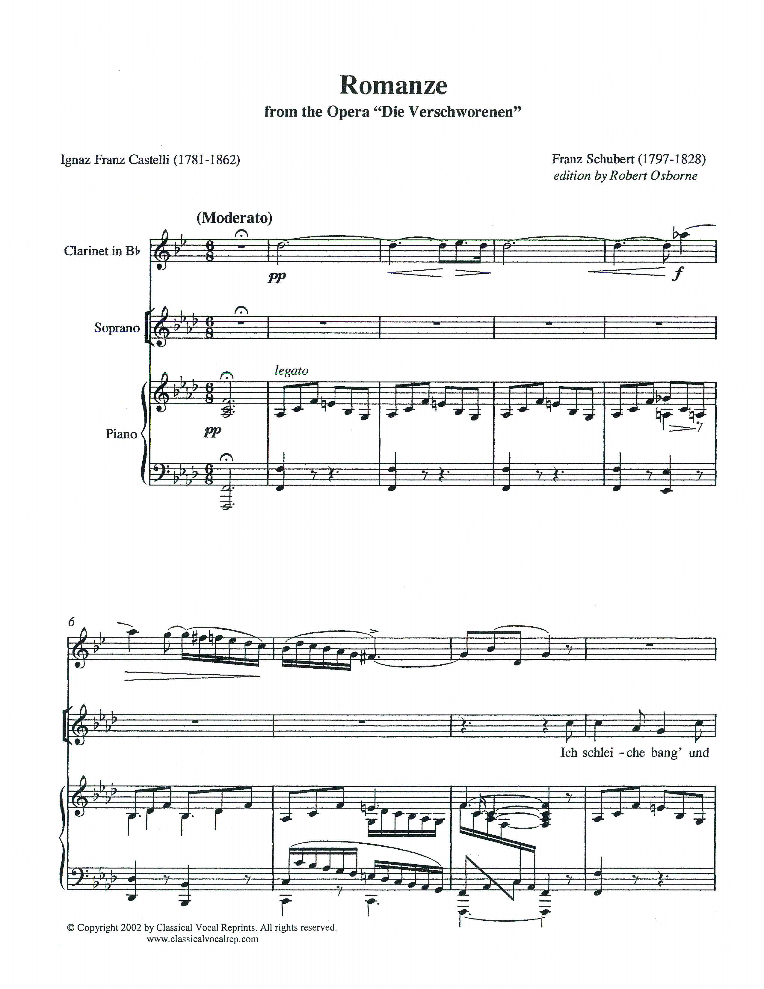 Ich B classical vocal reprints product page sheet pdf downloads