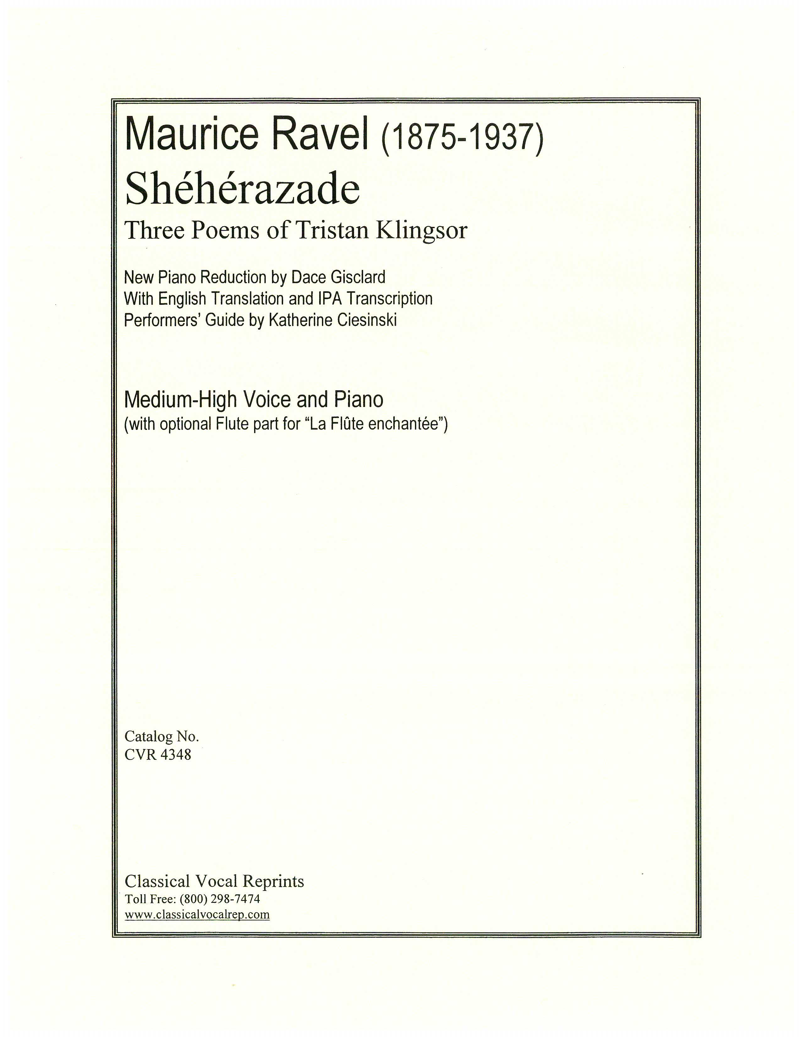 Classical Vocal Reprints - Product Page - Sheet Music PDF